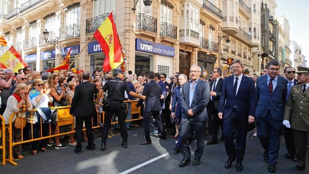 Imagen de la procesión cívica celebrada este lunes en Valencia