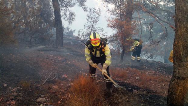 Imágenes del incendio de Yeste de este verano