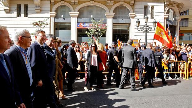 Imagen de Ximo Puig tomada durante la Procesión Cívica en Valencia