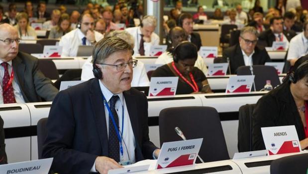Ximo Puig, durante su intervención ante el Comité Europeo de las Regiones