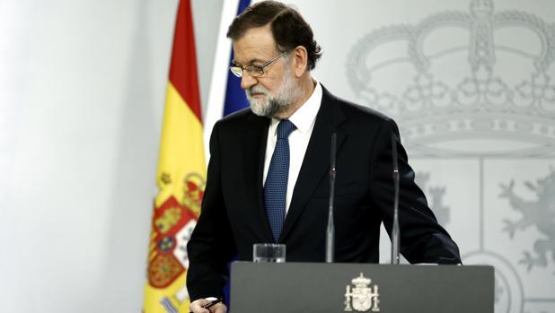 El preisdente del Gobierno, Mariano Rajoy, el pasado 2 de octubre