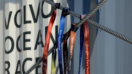 Emblemas de la Vuelta al Mundo de Vela que sale de Alicante