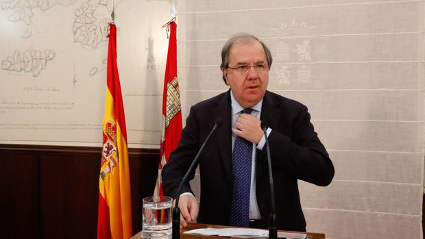 El presidente Herrera, durante la presentación de los Presupuestos