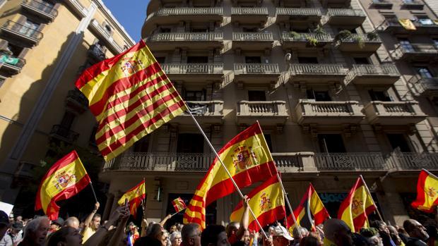 Manifestació del pasado domingo en el centro de Barcelona