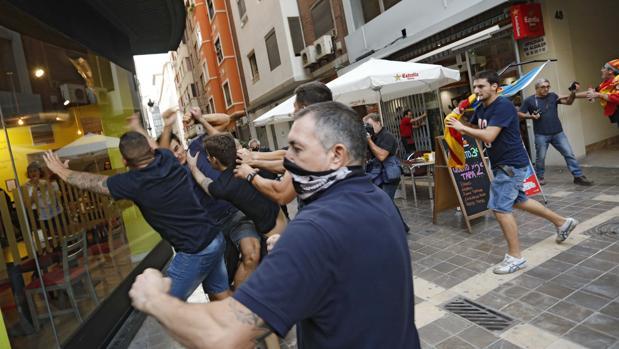 Imagen de agresiones en el 9 de octubre en Valencia