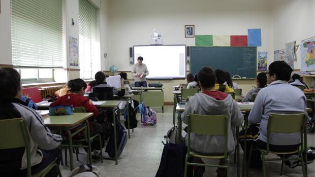 Pizarras digitales en el colegio público García Quintana de Valladolid
