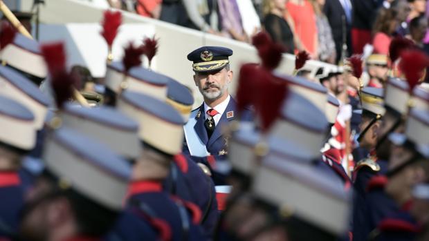 El Rey, en el desfile del Día de la Fiesta Nacional