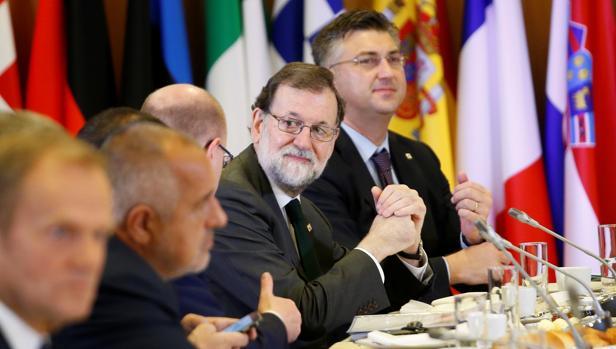 El presidente del Gobierno, Mariano Rajoy, en el Consejo Europeo, celebrado en Bruselas