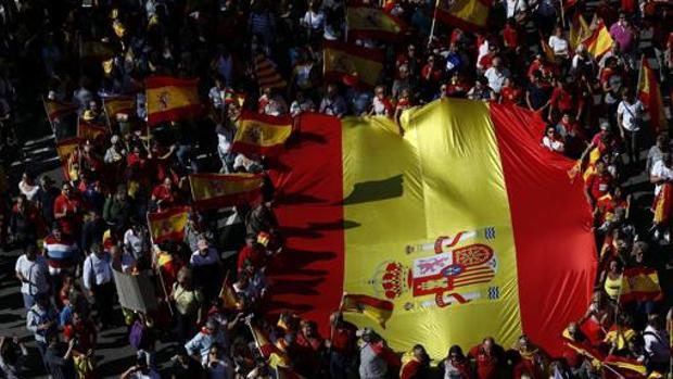La multitudinaria manifestación del 8 de octubre en Barcelona