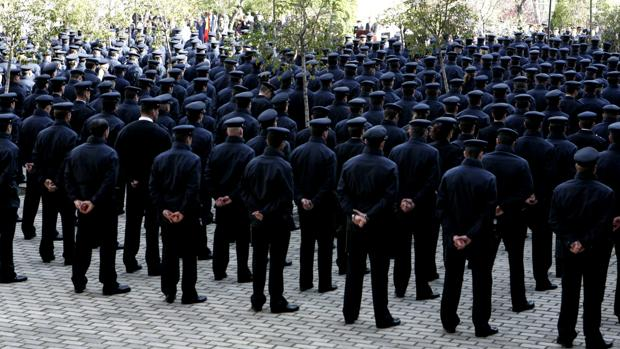 Imagen de archivo de una promoción de agentes de la Policía Nacional