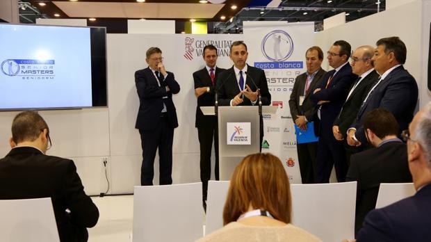 El presidente de la Diputación de Alicante, César Sánchez, en la World Travel Market de Londres