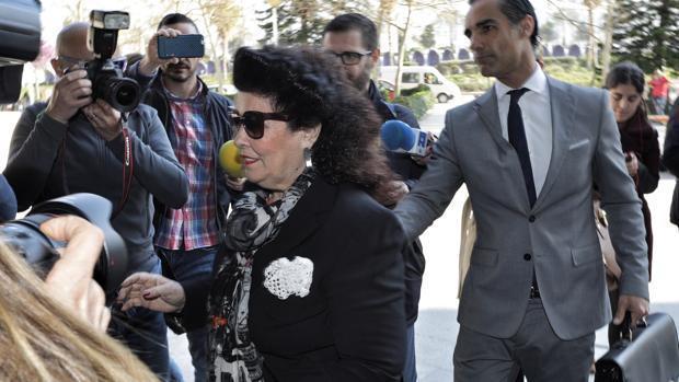 Imagen de Consuelo Ciscar tomada el pasado 15 de marzo en la Ciudad de la Justicia de Valencia