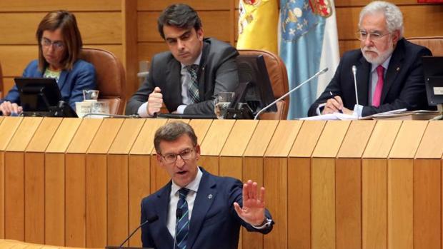 Feijóo en el Parlamento de Galicia
