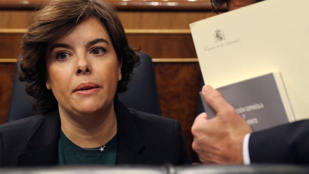 La vicepresidenta del Ejecutivo, Soraya Sáenz de Santamaría