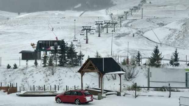 Imagen tomada este jueves en la estación de esquí de Formigal (Huesca)