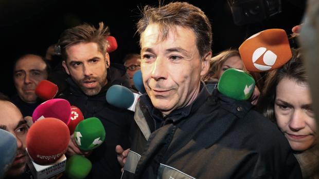Ignacio González a su salida de la cárcel