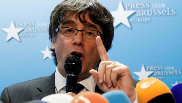 El destituido presidente catalán Carles Puigdemont