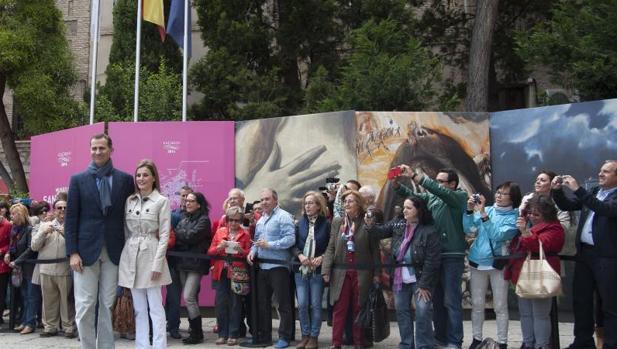 Los Reyes, en Toledo, visitaron la exposición del Greco en mayo de 2014, unos días antes de la proclamación de Don Felipe como monarca