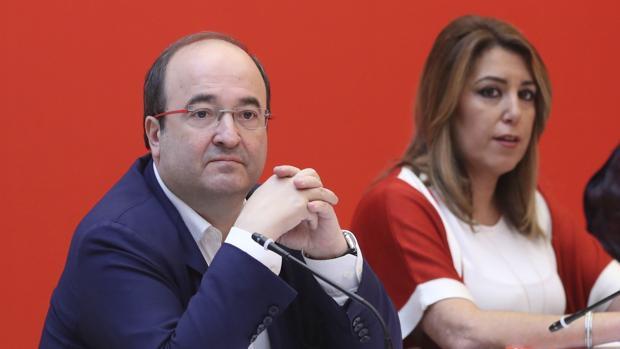Miquel Iceta junto a Susana Díaz en el Consejo Político Federal