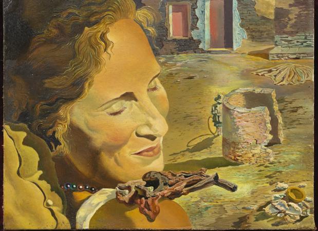 Retrato de Gala con dos costillas de cordero en equilibrio sobre su hombro», obra de Dalí de 1934
