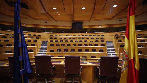 Vista de la Sala Europa del Senado, en una imagen de archivo