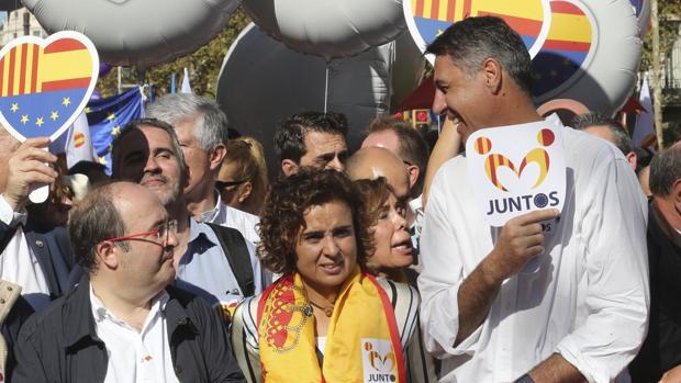 Manifestación convocada por Sociedad Civil Catalana bajo el lema «Todos somos cataluña»
