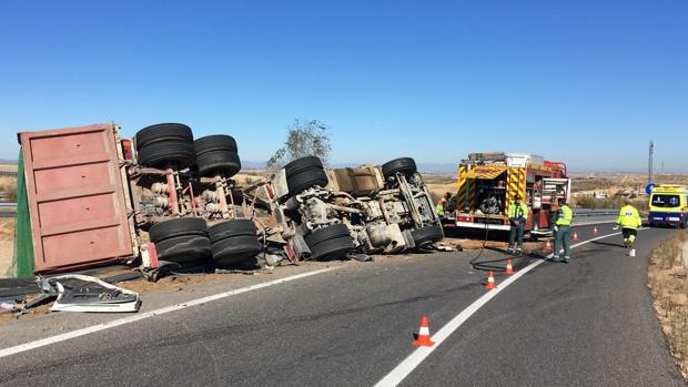 Estado en el que ha quedado el camión