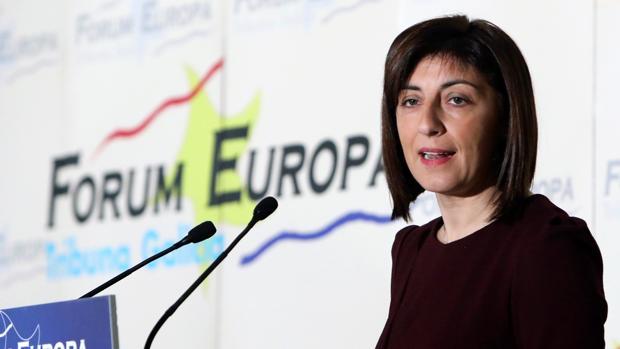 La conselleira de Medio Rural, Ángeles Vázquez, en los desayunos de Fórum Europa