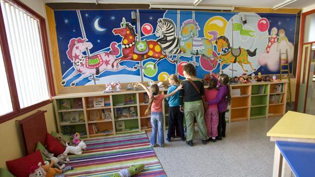 Imagen de archivo de una biblioteca infantil