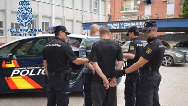 Momento de la detención de los acusados