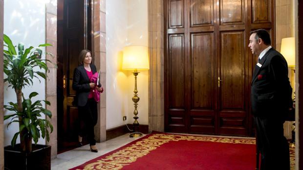 Forcadell, ayer en el Parlament