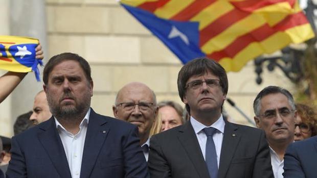 Junqueras y Puigdemont, en una imagen de archivo
