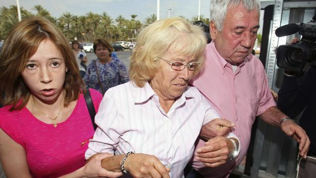 Imagen de María del Carmen García tomada el día que ingresó en prisión