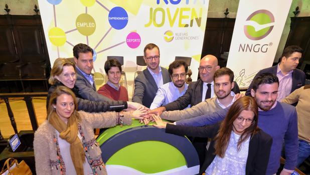 Javier Maroto, en la presentación en Valladolid de la «Ruta Social Joven» de Nuevas Generaciones