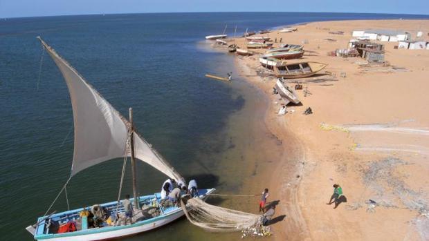 Barcos en Arguín, Mauritania