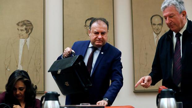 El comisario José Luis Olivera, en el Congreso