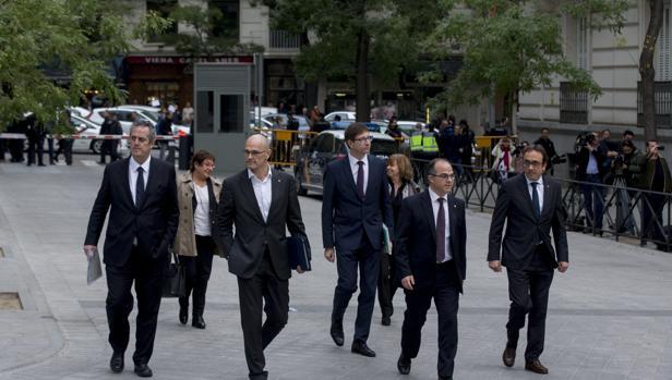 Los exconsellers, de camino a su declaración en la Audiencia Nacional el día 2