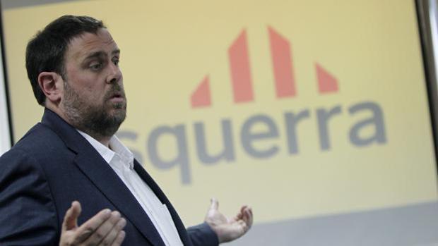 Oriol Junqueras, durante una conferencia