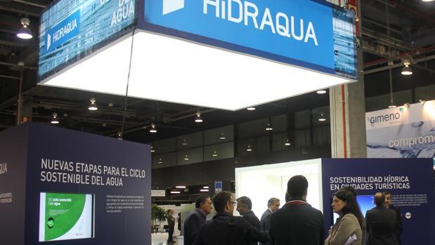 Stand de la compañía HIdraqua en Efiaqua, en la edición anterior de la feria