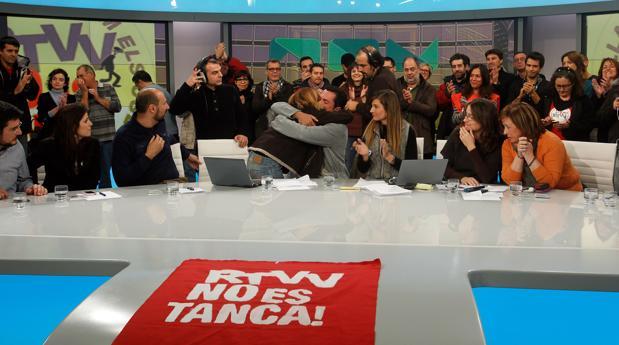 Imagen de la última emisión de la extinta Canal 9, tomada la mañana del 29 de noviembre de 2013