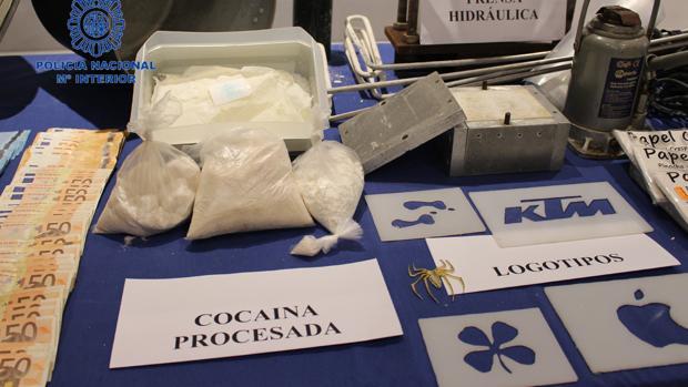Parte de los efectos intervenidos a la banda de narcotraficantes