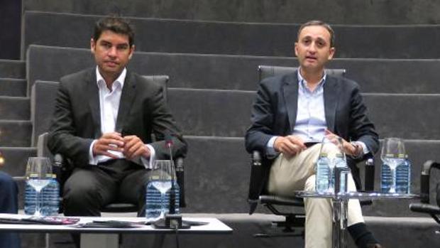 Manuel Bonilla y César Sánchez, en el Auditorio ADDA