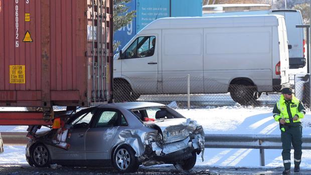 Imagen del accidente producido en la AP-1