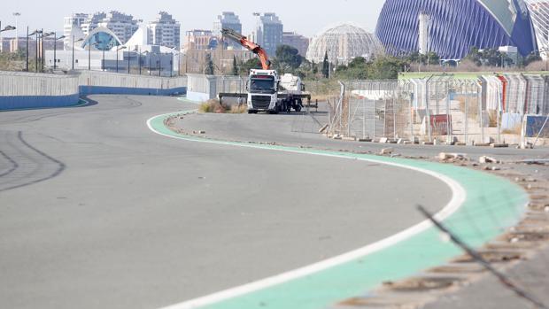 Imagen de archivo del circuito de Fórmula 1 en Valencia