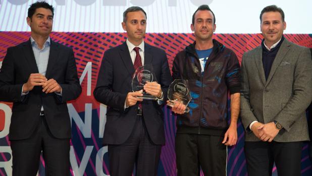 Bonilla, Sánchez, Sergio Vidal (del Club de Baloncesto Innova de Mutxamel) y Morant