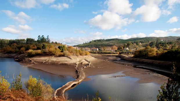 Vista del embalse de Eiras, que abastece de agua a la ciudad de Vigo