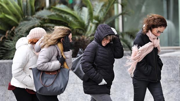 Rachas de viento y frío en Valencia