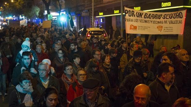 Un aspecto de la manifestación contra la degración del casco viejo de noviembre