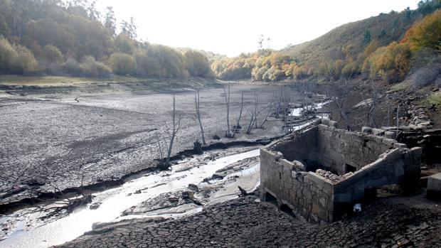 Estado del embalse de Eiras, que abastece al área de Vigo