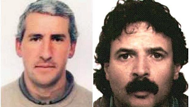 Combo de fotografías de los presuntos etarras Pedro Esquisabel Urtuzaga, «Xerpa», y José Manuel Ugartemendía Isasa